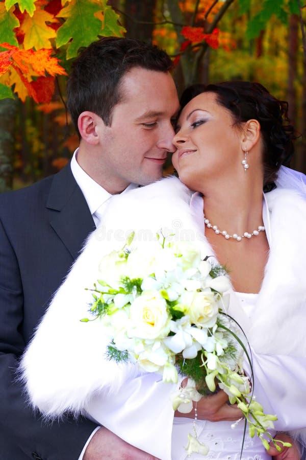 Het huwelijk van de herfst stock foto's