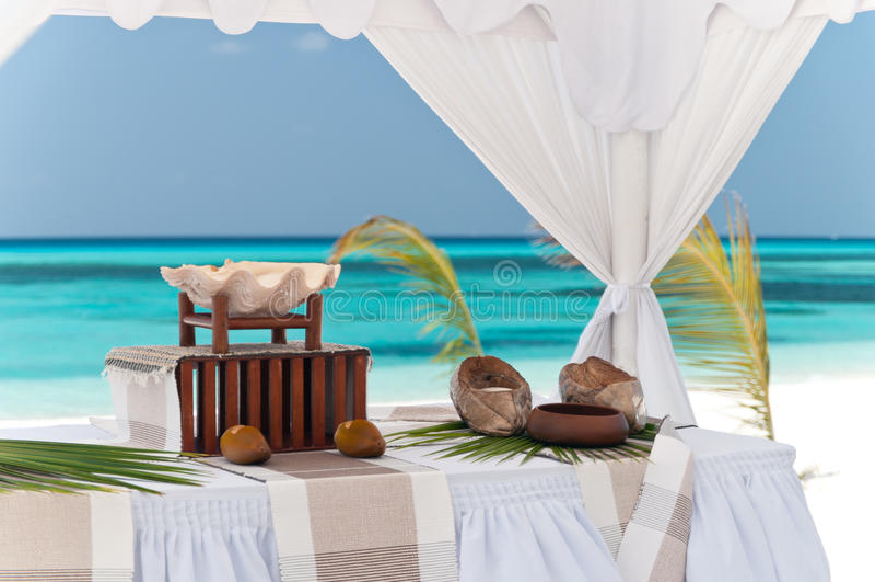 Het huwelijk van het strand royalty-vrije stock fotografie