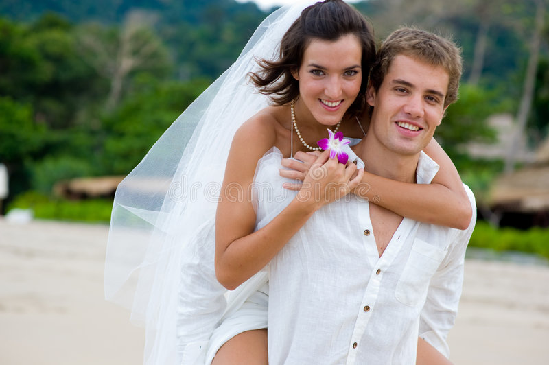 Het Huwelijk van het strand stock afbeeldingen