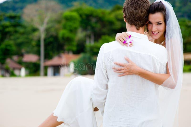 Het Huwelijk van het strand stock fotografie