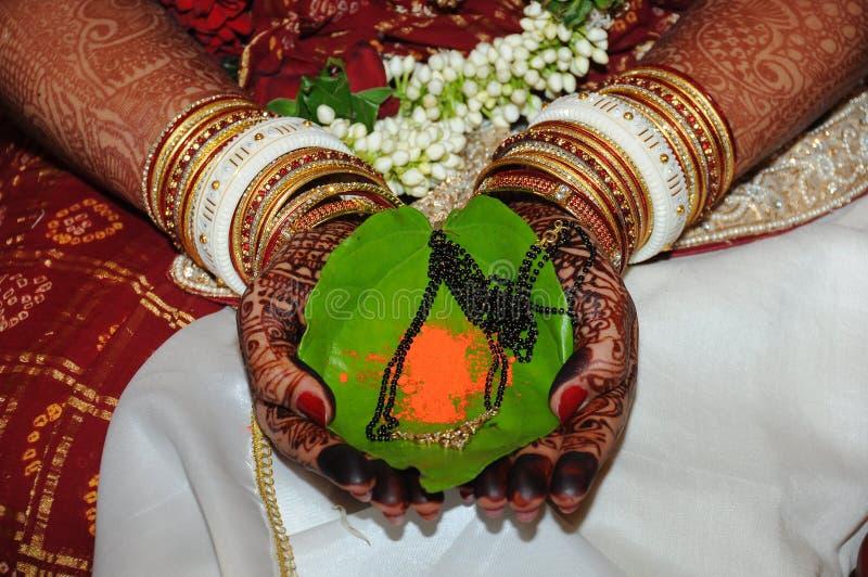 Het huwelijksceremonie van India royalty-vrije stock fotografie
