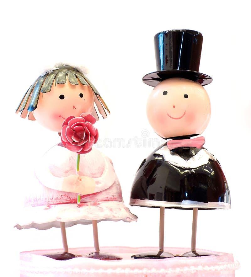 Het huwelijkspop van het paar royalty-vrije stock foto's