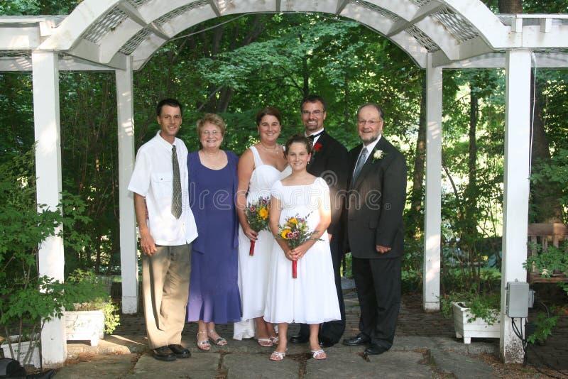Het huwelijksportret van de familie royalty-vrije stock afbeelding