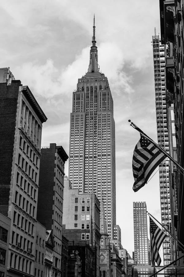 Het iconische Empire State Building de Stad in van Manhattan, New York, de V.S. royalty-vrije stock foto