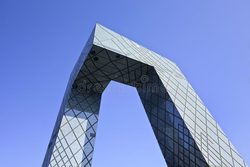 Het iconische kabeltelevisie-gebouw, Peking, China stock afbeeldingen