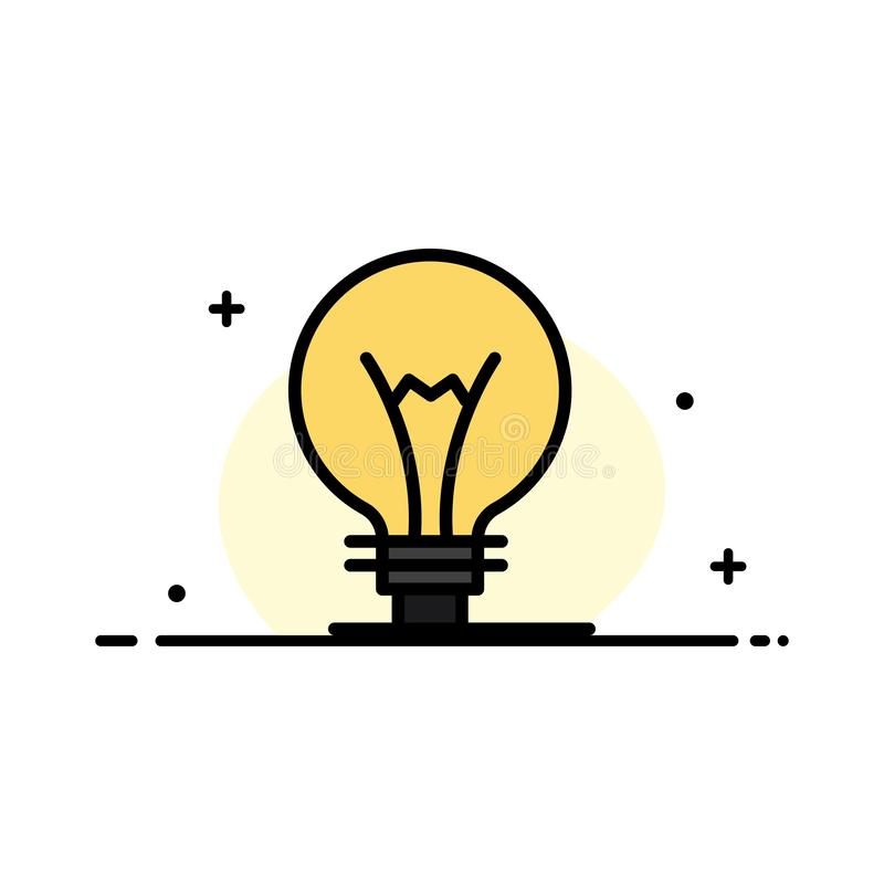 Het idee, Innovatie, Uitvinding, gloeilampen Bedrijfs Vlakke Lijn vulde Malplaatje van de Pictogram het Vectorbanner stock illustratie
