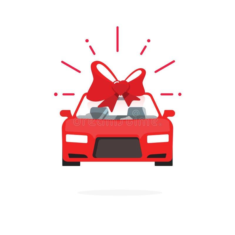 Het idee rode kleur van de autospeciale aanbieding, de auto huidige vectorillustratie van de verkoopprijs royalty-vrije illustratie
