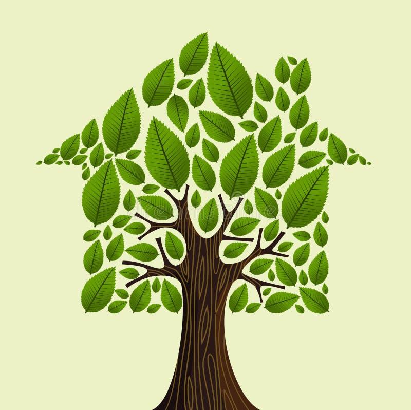 Het idee van de onroerende goederenboom stock illustratie