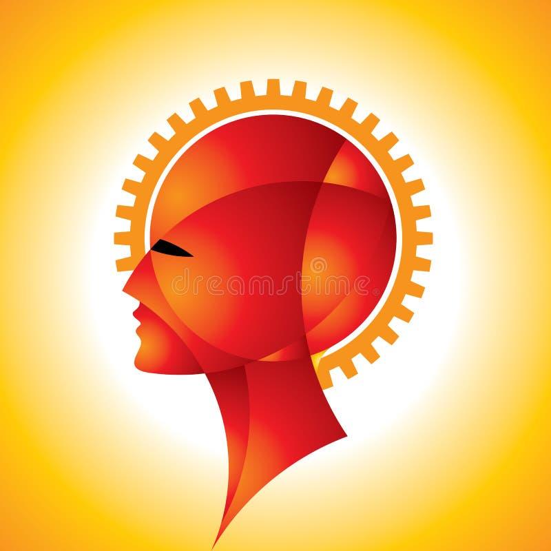 Het idee van hersenen stock illustratie