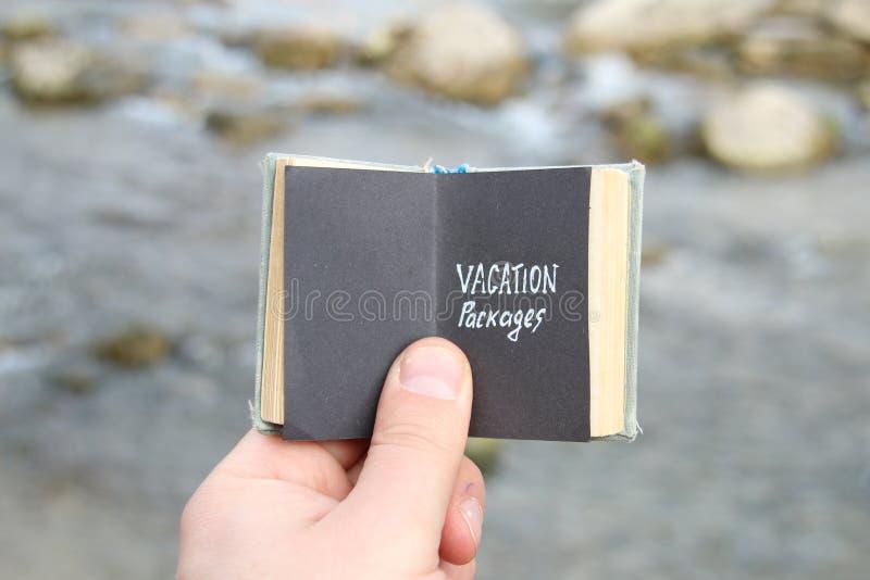 Het idee van vakantiepakketten royalty-vrije stock afbeeldingen