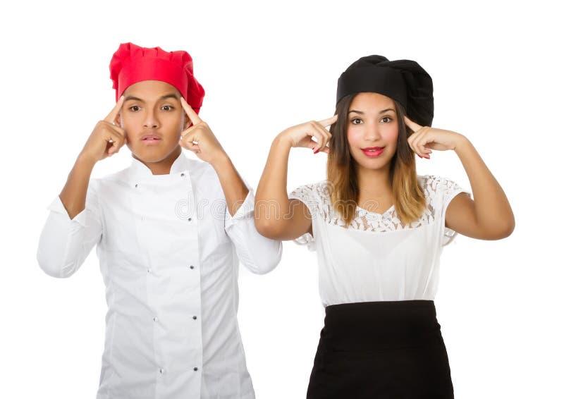 Het ideeconcept van het chef-kokteam stock fotografie