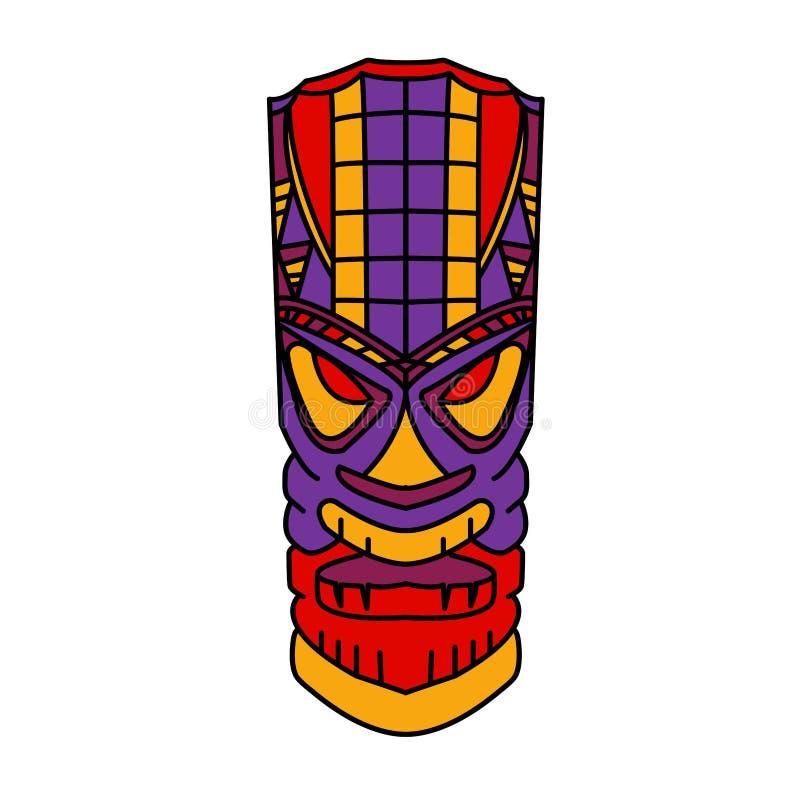 Het Idool van Tiki stock illustratie