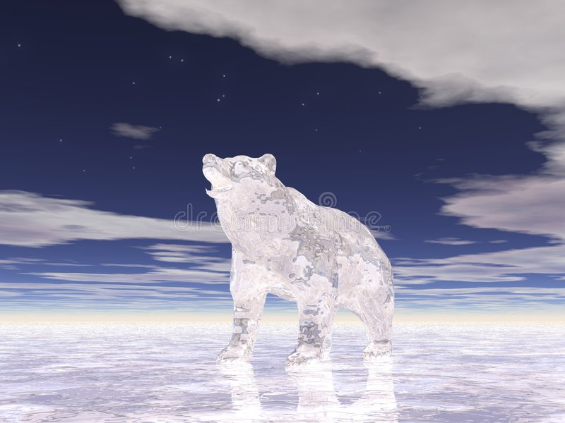 Het ijs draagt Twee vector illustratie