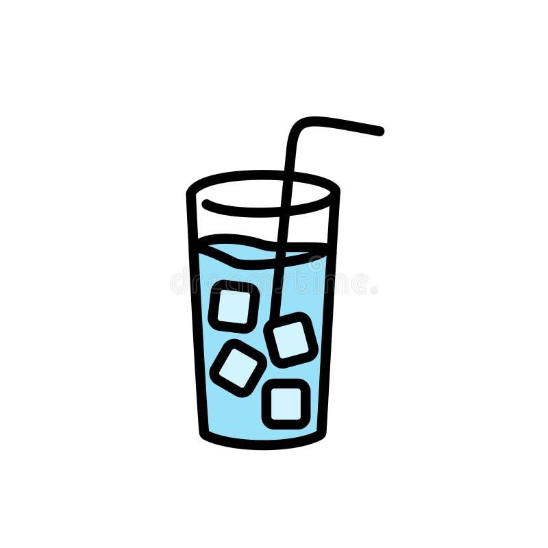 Het ijs drinkt water vectorpictogram royalty-vrije illustratie