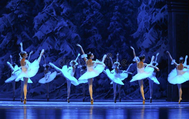 Het ijs en sneeuwt de elf-eerste handeling van het vierde Land van de gebiedssneeuw - de Balletnotekraker stock afbeeldingen
