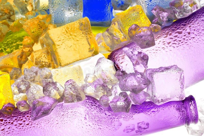 Het ijs van de kleur stock afbeeldingen