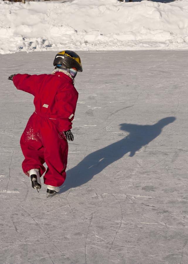 Het ijs van het kind het schaatsen royalty-vrije stock foto
