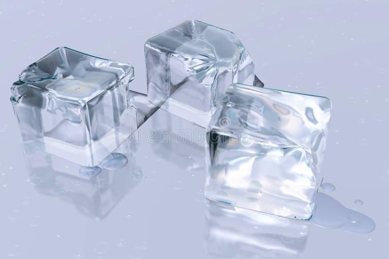 Het ijs van kubussen royalty-vrije illustratie