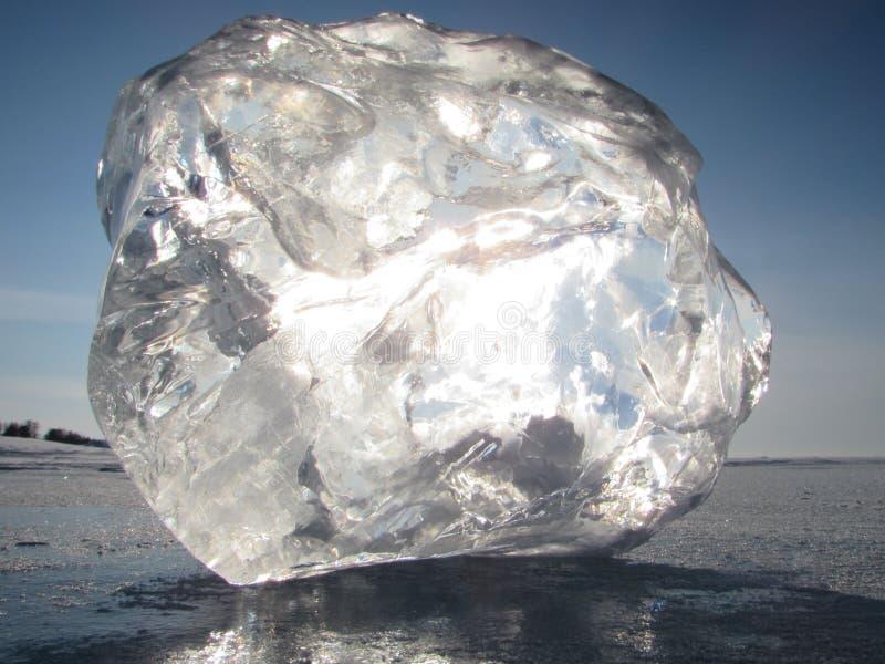 Het ijs van meerbaikal stock afbeeldingen