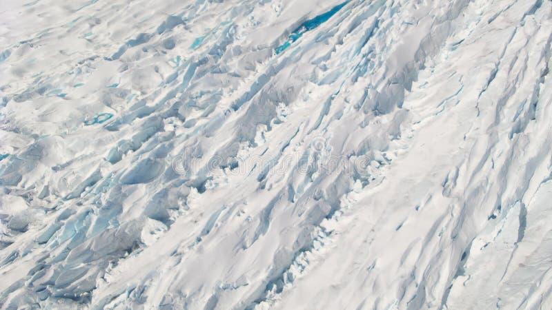 Het Ijssneeuw en water van Juneau Alaska van de Mendenhallgletsjer stock foto's