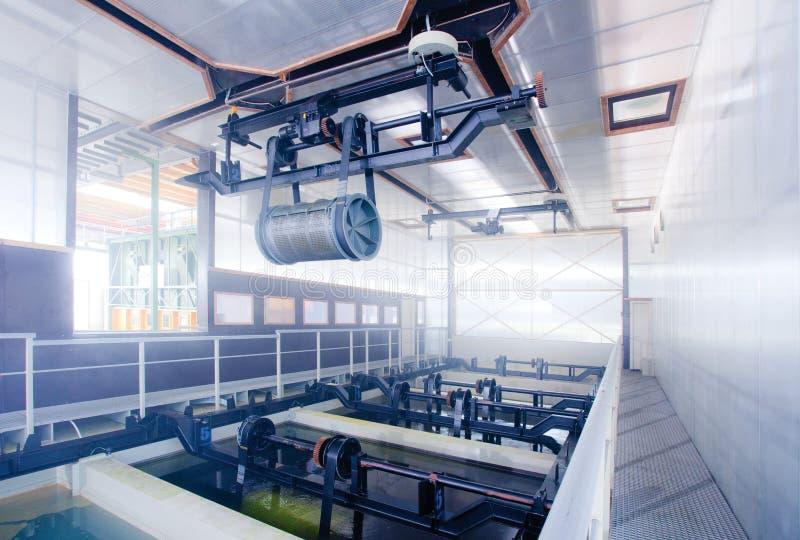Het ijzer en het staal worden beschermd door hete te galvaniseren royalty-vrije stock afbeeldingen
