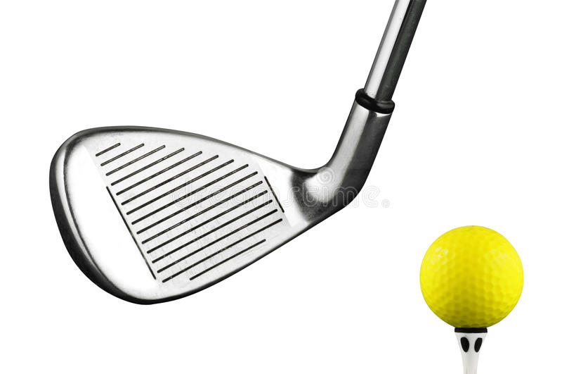 Het ijzerclub van het golf stock afbeelding