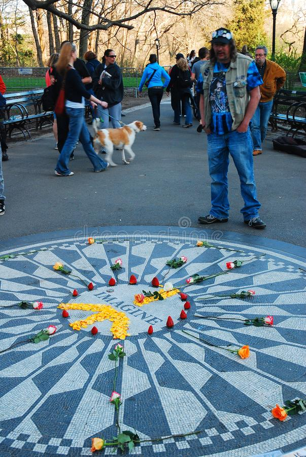 Het Imagine mozaïek, Central Park stock foto's