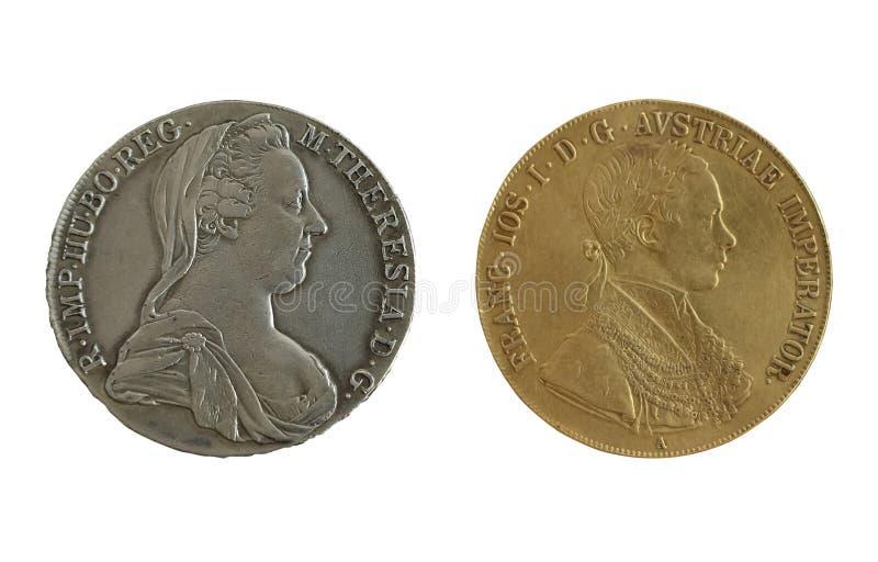 Het imperiummuntstukken van Oostenrijk van Atique royalty-vrije stock foto's