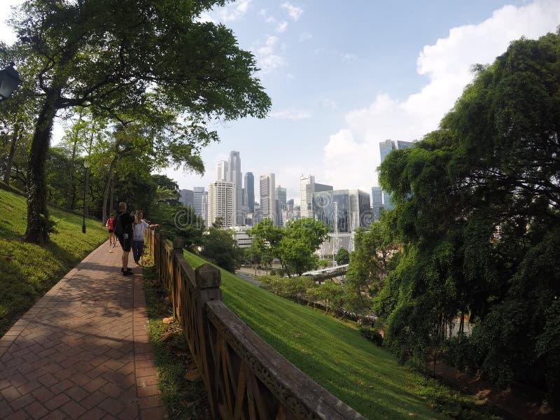 Het inblikkende park van het fort stock foto