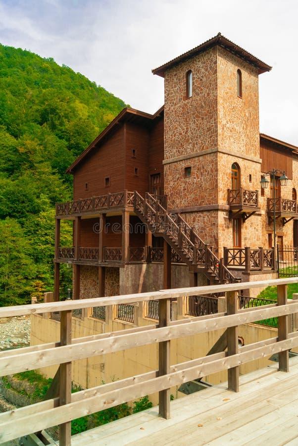 het inbouwen van de stijl van een oud Georgisch kasteel stock fotografie