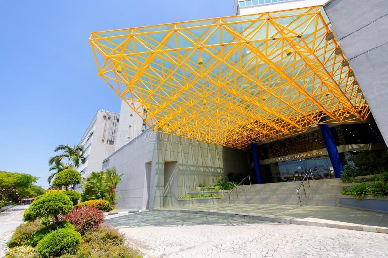 Het inbouwen van Nationale Universiteit van Singapore stock foto