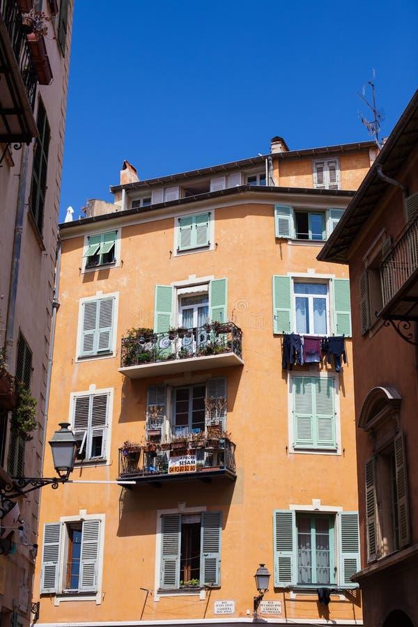 Het inbouwen van Nice Frankrijk stock foto's