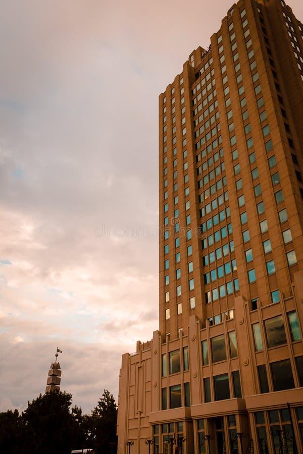 Het inbouwen van Philadelphia Van de binnenstad Pennsylvania stock foto