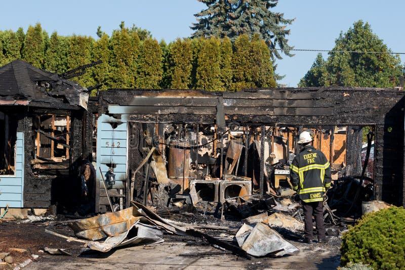 Het Incident van de brandstichtingsgewapende man in Springfield Oregon 27 Oktober stock fotografie