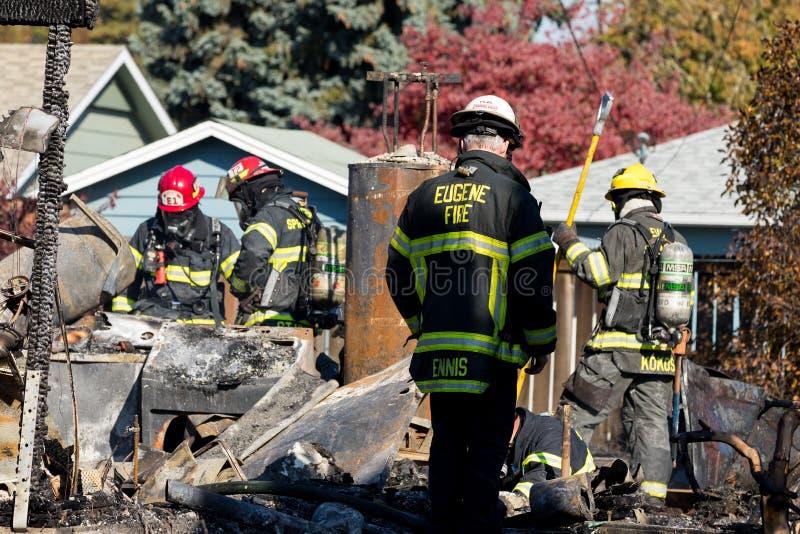 Het Incident van de brandstichtingsgewapende man in Springfield Oregon 27 Oktober royalty-vrije stock afbeelding