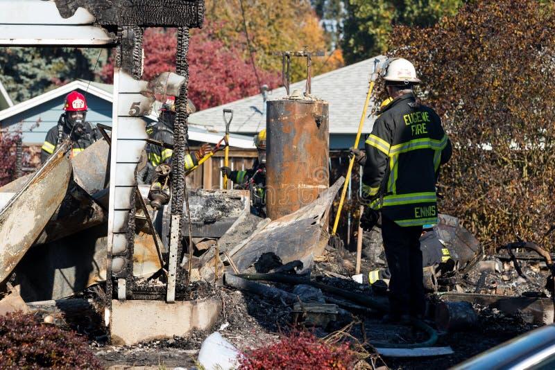 Het Incident van de brandstichtingsgewapende man in Springfield Oregon 27 Oktober stock foto