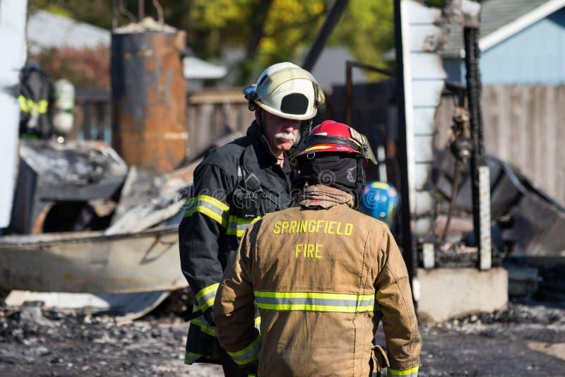 Het Incident van de brandstichtingsgewapende man in Springfield Oregon 27 Oktober royalty-vrije stock foto's