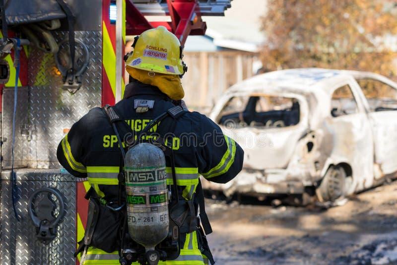 Het Incident van de brandstichtingsgewapende man in Springfield Oregon 27 Oktober stock afbeeldingen