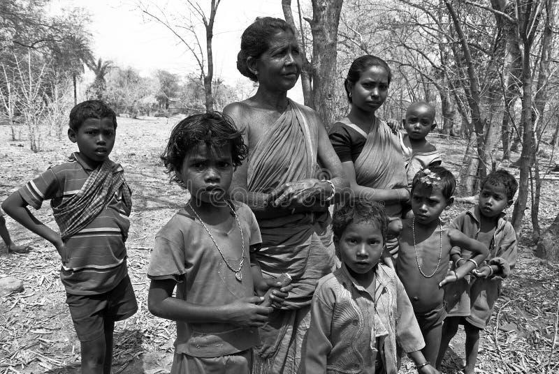 Het Indische dorpsleven stock afbeelding