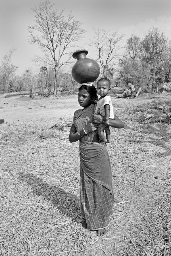 Het Indische dorpsleven royalty-vrije stock foto's