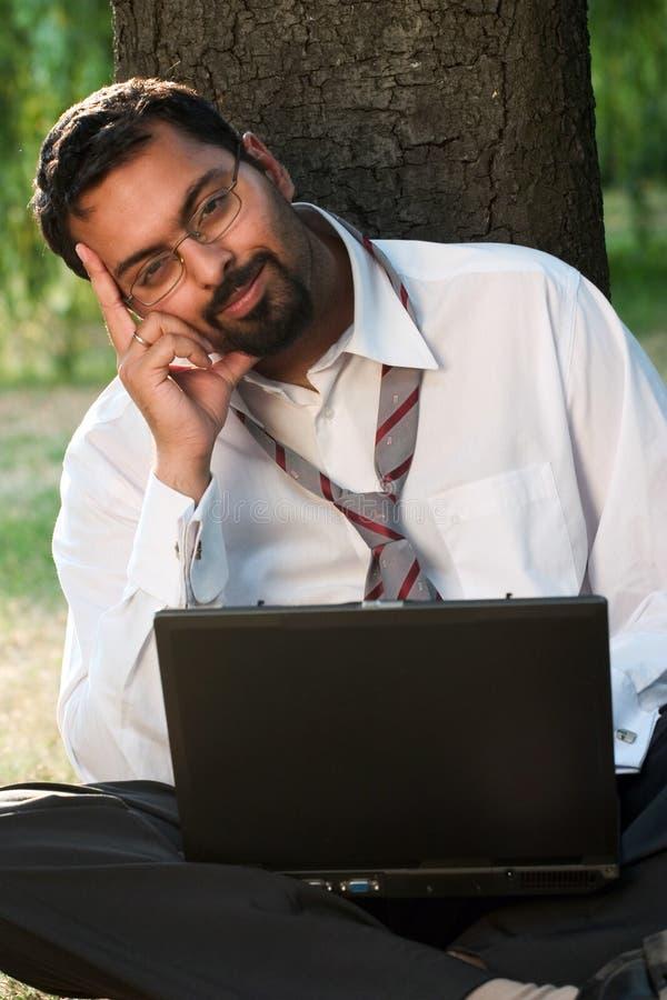 Het Indische glimlachen stock foto's