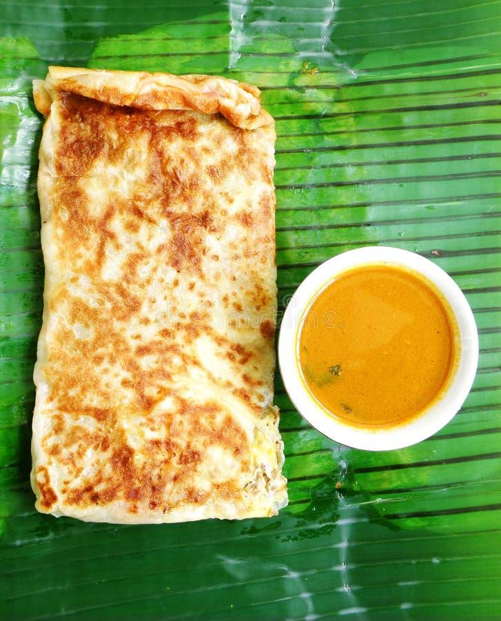 Het Indische koken Murtabak royalty-vrije stock afbeeldingen