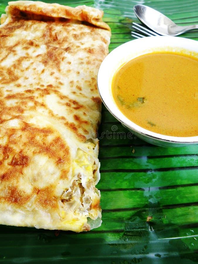 Het Indische koken Murtabak stock afbeeldingen