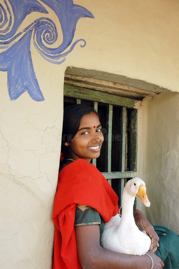 Het Indische Meisje van het Dorp royalty-vrije stock foto's