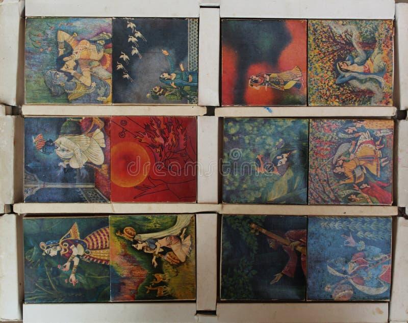 Het Indische merk van het de Veiligheidslucifersdoosje WIMCO van 1970 Oude Antieke uitstekende zeer zeldzame aangepaste met gelij royalty-vrije stock foto