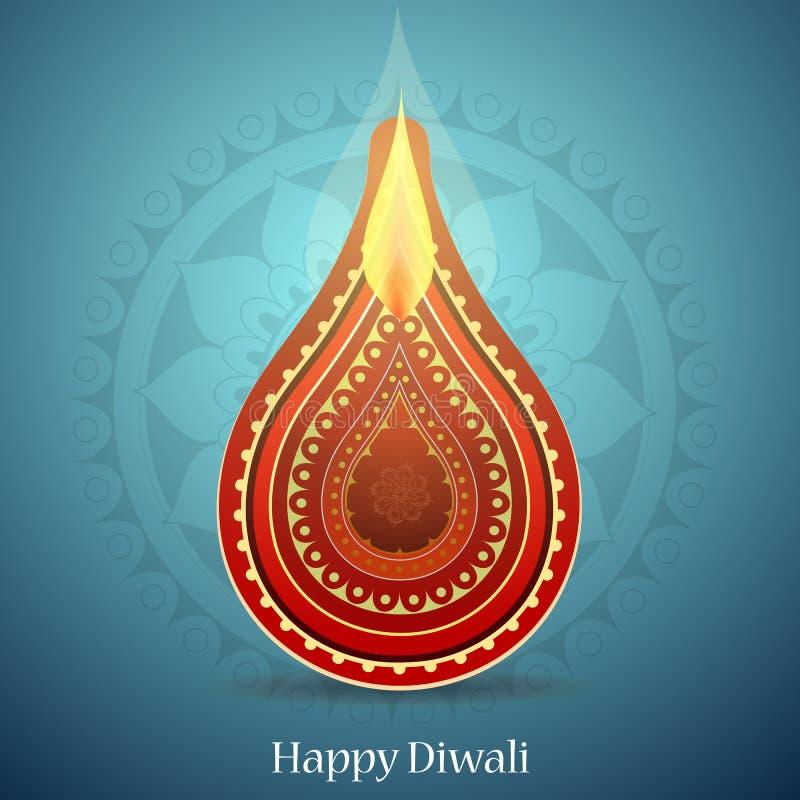 Het Indische ontwerp van de de groetkaart van festivaldiwali royalty-vrije illustratie