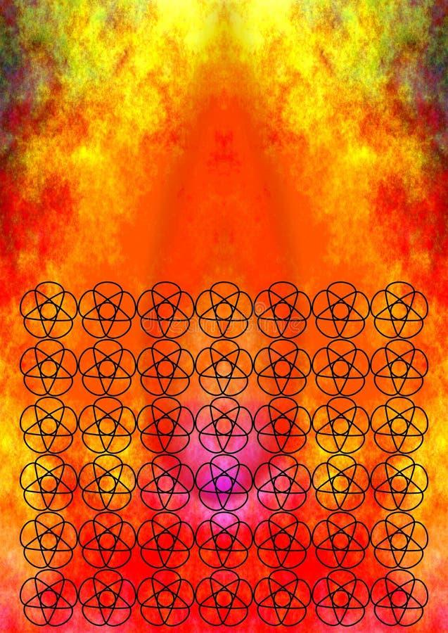 Het Indische patroon van de vlammenbloem stock illustratie