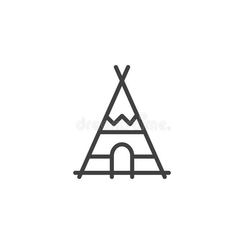 Het Indische pictogram van de tipilijn royalty-vrije illustratie