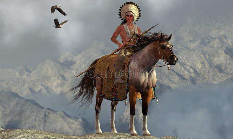 Het Indische Stijgen Eagle vector illustratie
