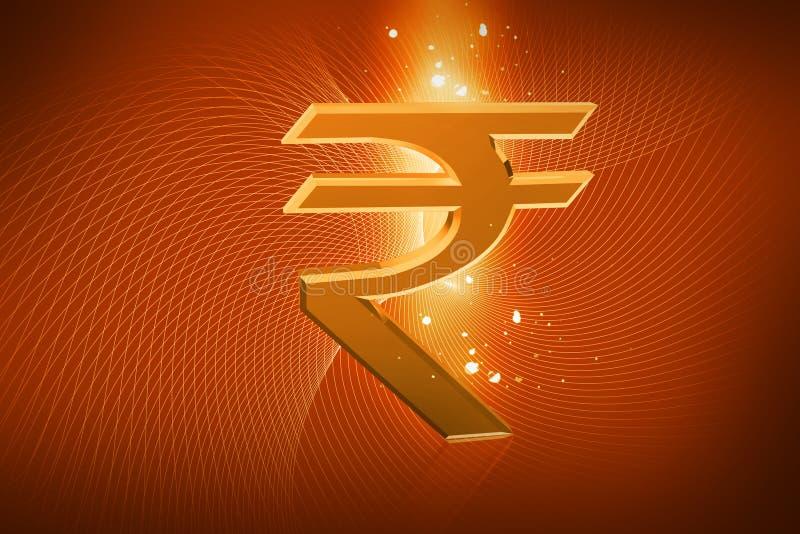 Het Indische teken van de Roepie royalty-vrije illustratie
